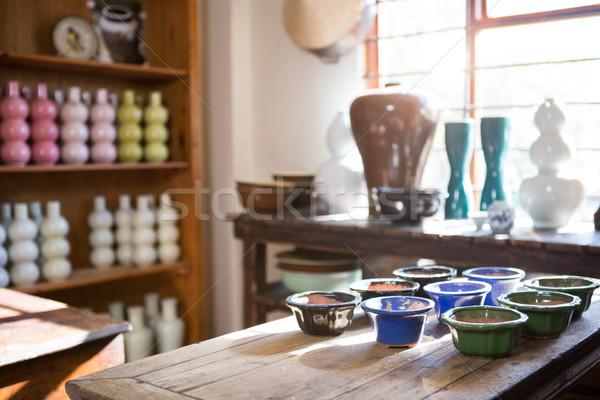 Aardewerk tabel workshop business venster Stockfoto © wavebreak_media
