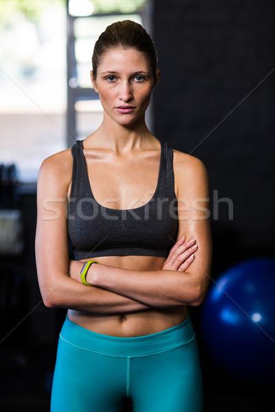 小さな 女性 選手 ジム 肖像 立って ストックフォト © wavebreak_media