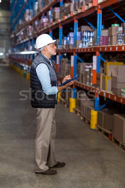 склад работник Дать промышленности завода Сток-фото © wavebreak_media