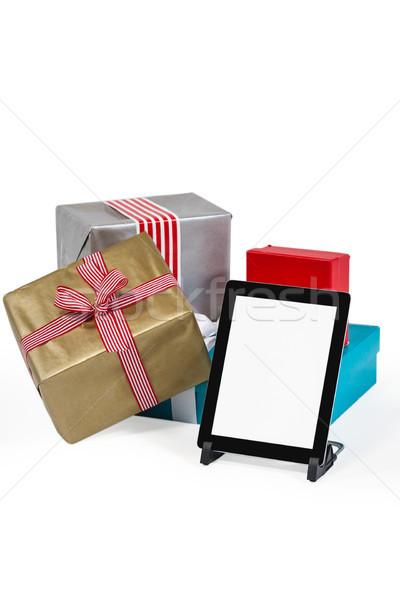 Noël présente numérique comprimé blanche hiver Photo stock © wavebreak_media