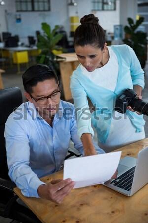 Graphic designers working at desk Stock photo © wavebreak_media