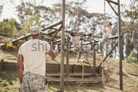 Military soldier during training exercise with weapon Stock photo © wavebreak_media