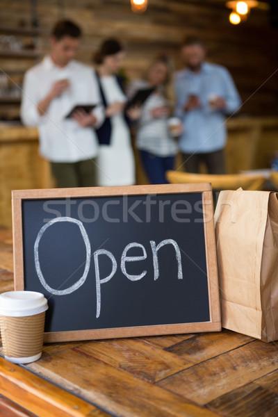 オープン 使い捨て コーヒーカップ 紙袋 カフェテリア 紙 ストックフォト © wavebreak_media