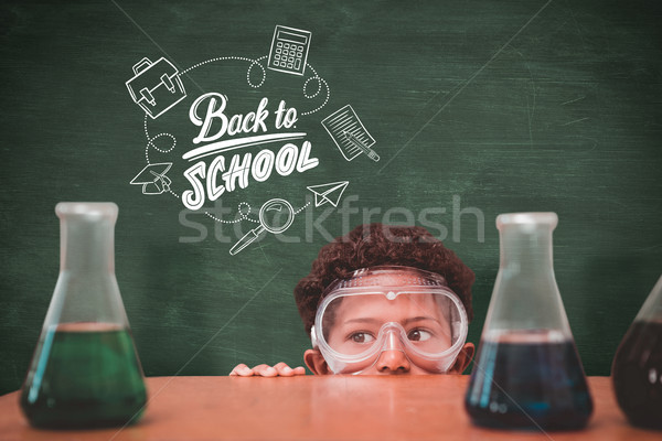 Composite image of cute pupil dressed up as scientist Stock photo © wavebreak_media