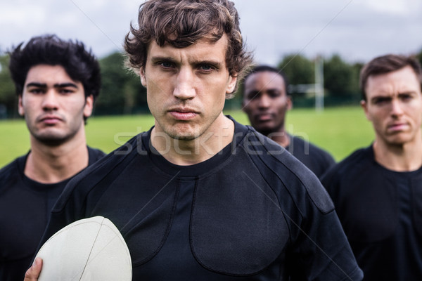 Rugby players standing together before match Stock photo © wavebreak_media