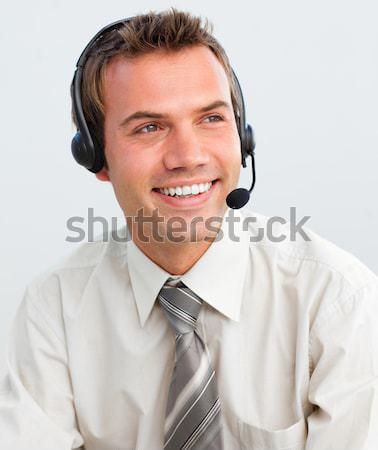 顧客服務 代表 耳機 白 業務 商業照片 © wavebreak_media