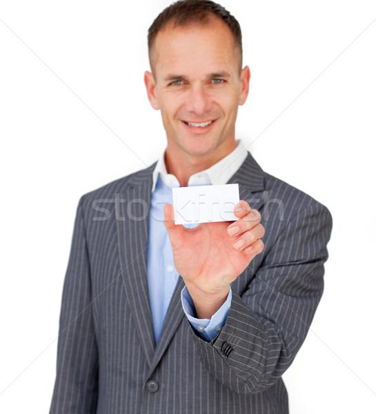 ストックフォト: ビジネスマン · 白 · カード · ビジネス