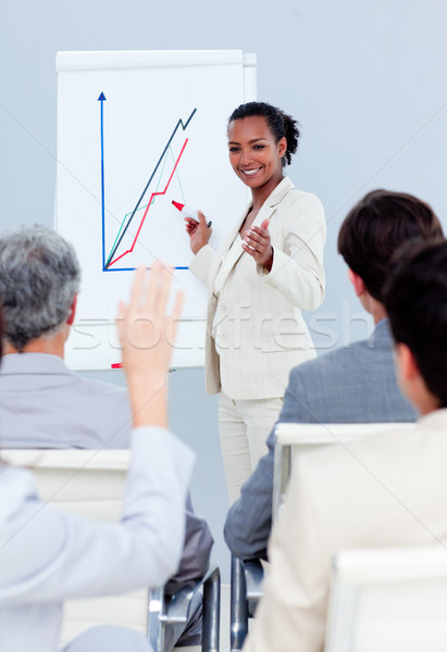 Self-assured businesswoman doing a presentation Stock photo © wavebreak_media