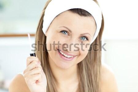 Portret wesoły kobieta interesu działalności uśmiech telefon Zdjęcia stock © wavebreak_media