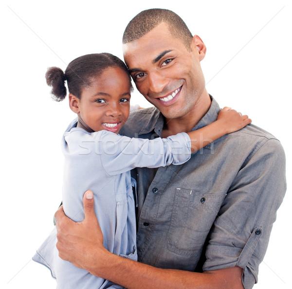 отец мало дочь улыбка человека Сток-фото © wavebreak_media