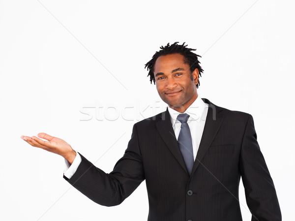 Happy businessman offering his hand  Stock photo © wavebreak_media