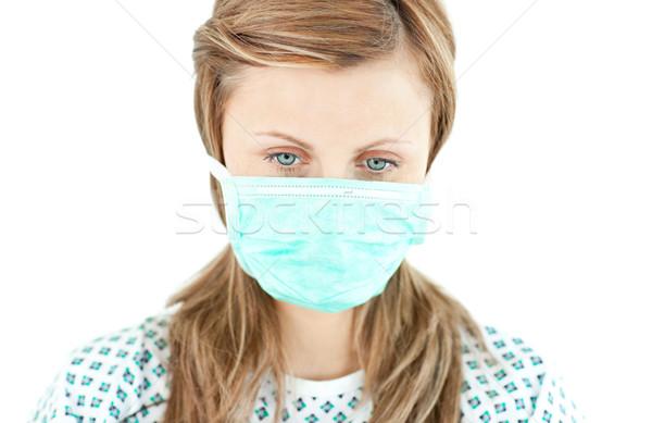 Boldogtalan beteg néz padló fehér orvosi Stock fotó © wavebreak_media
