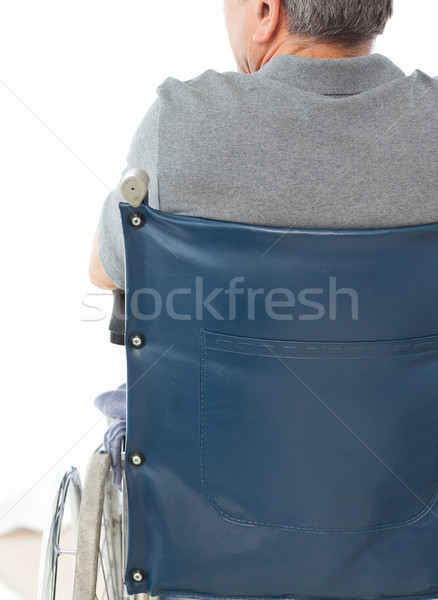 Hombre maduro silla de ruedas atrás casa médicos Foto stock © wavebreak_media