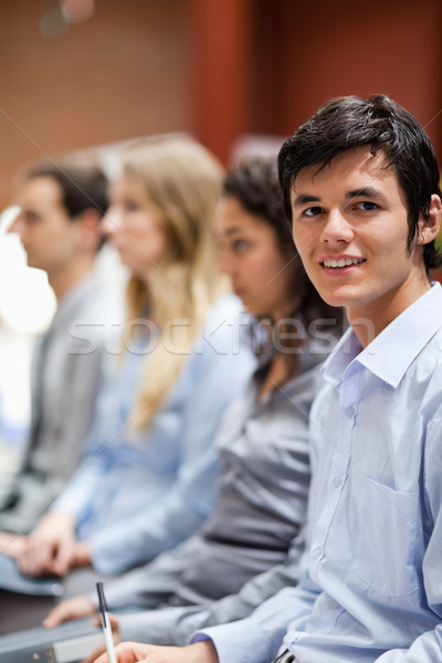 Portrait of a businessman smiling at the camera during a presentation Stock photo © wavebreak_media