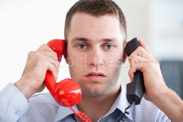 Imprenditore telefono business ufficio Foto d'archivio © wavebreak_media