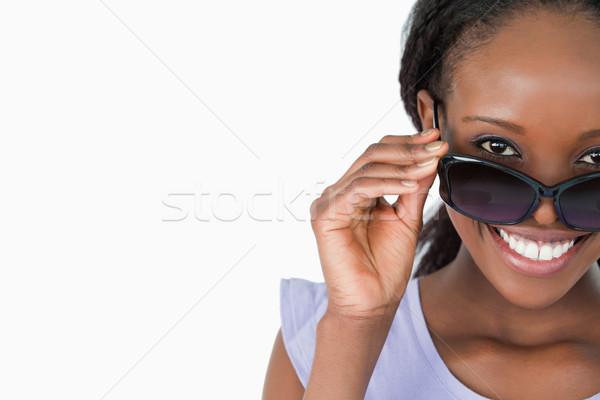 笑顔の女性 見える サングラス 白 ファッション ストックフォト © wavebreak_media