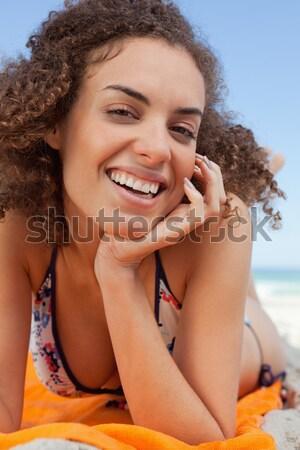 Genç kadın bikini muhteşem gülümseme Stok fotoğraf © wavebreak_media
