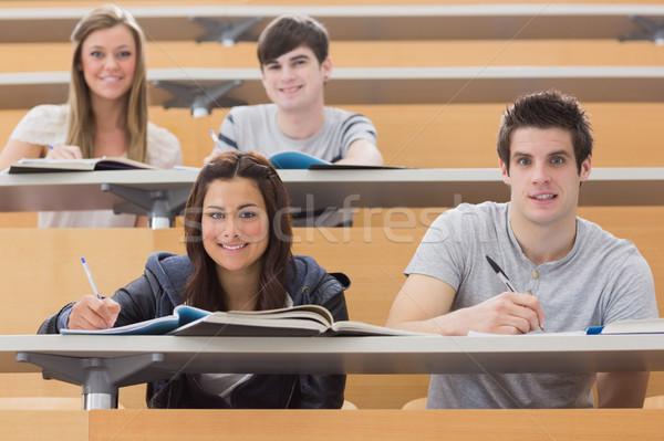 Öğrenciler oturma büro gülen ders salon Stok fotoğraf © wavebreak_media