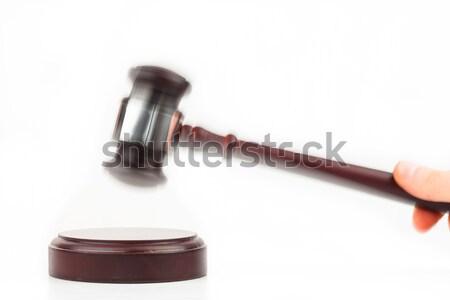 Strony młotek młotek biały prawa Zdjęcia stock © wavebreak_media