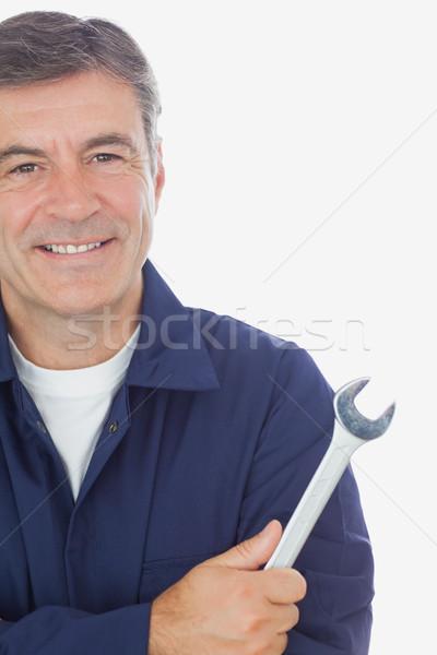 男性 メカニック レンチ 肖像 成熟した ストックフォト © wavebreak_media