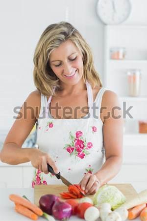 Halten Platte verlockend Gebäck Porträt Stock foto © wavebreak_media