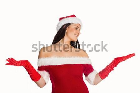 Mutlu kadın Noel hediye portre Stok fotoğraf © wavebreak_media
