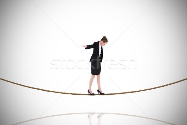 Imagem empresária equilíbrio agir Foto stock © wavebreak_media