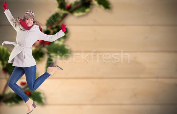 Obraz szczęśliwy zimą ubrania Zdjęcia stock © wavebreak_media