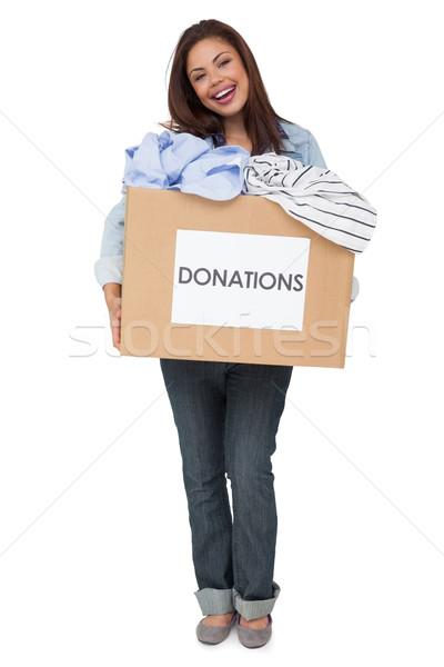 Ritratto vestiti donazione felice piedi Foto d'archivio © wavebreak_media