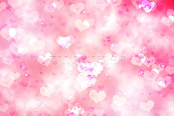 Cyfrowo wygenerowany serca projektu różowy Zdjęcia stock © wavebreak_media