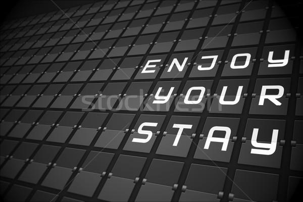 Godere soggiorno nero meccanica bordo digitalmente Foto d'archivio © wavebreak_media