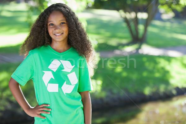 молодые окружающий активист улыбаясь камеры Сток-фото © wavebreak_media