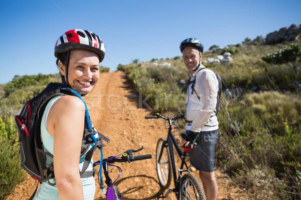 активный пару Велоспорт стране местность вместе Сток-фото © wavebreak_media