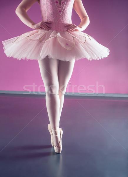 Wdzięczny baleriny stałego balet studio kobieta Zdjęcia stock © wavebreak_media
