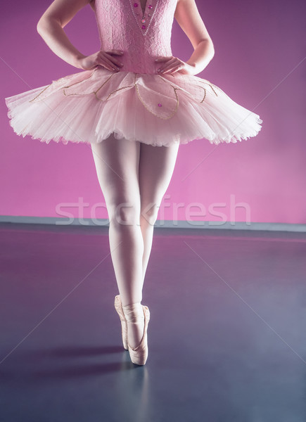 Graceful ballerina standing en pointe Stock photo © wavebreak_media