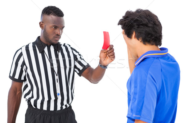 Referee sending off football player Stock photo © wavebreak_media
