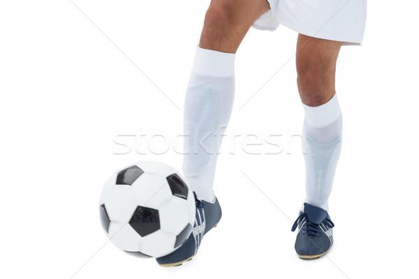 Football player kicking the ball Stock photo © wavebreak_media