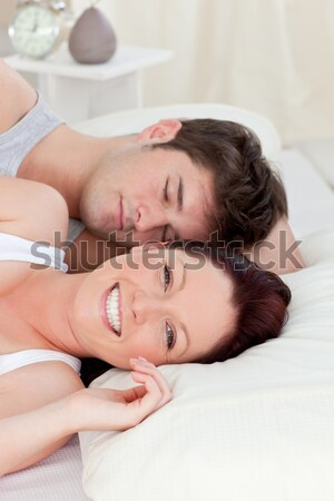 Baby boy sleeping peacefully on couch Stock photo © wavebreak_media