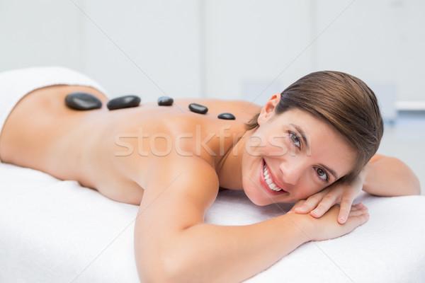 Bella donna pietra massaggio spa centro ritratto Foto d'archivio © wavebreak_media