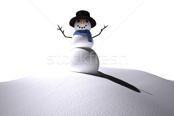 Digitally generated white snow man Stock photo © wavebreak_media