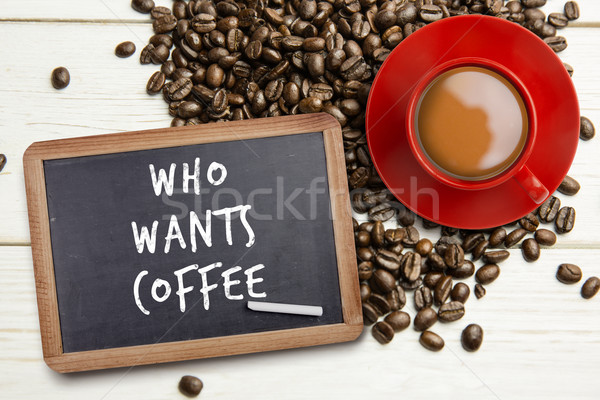 Composite image of red cup of coffee Stock photo © wavebreak_media