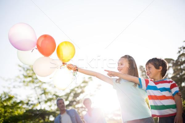 ストックフォト: 幸せ · 風船 · 公園