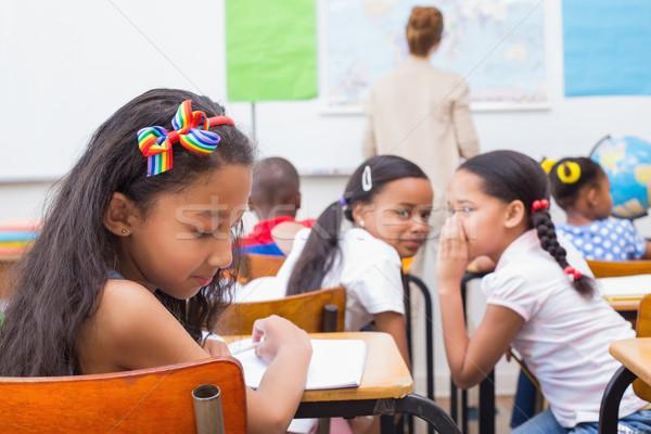 Huncut iskolás osztály általános iskola iskola gyermek Stock fotó © wavebreak_media