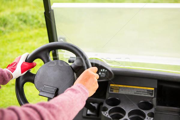 Golfer driving his golf buggy forward Stock photo © wavebreak_media