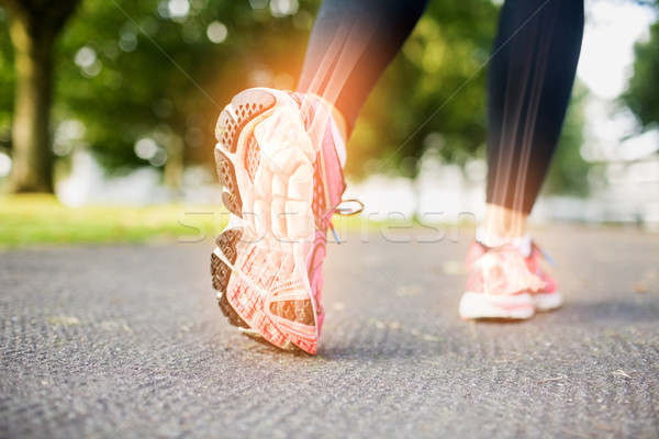Pied os jogging femme composite numérique arbre Photo stock © wavebreak_media