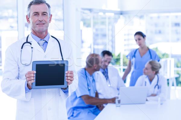 Stok fotoğraf: Doktor · toplantı · hastane · teknoloji