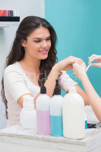 Mooie nagel technicus manicure klant schoonheidssalon Stockfoto © wavebreak_media