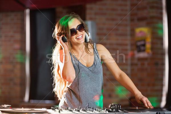 Bella giocare techno musica discoteca bar Foto d'archivio © wavebreak_media