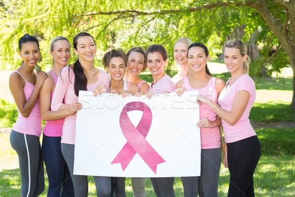 Composite image of breast cancer awareness message Stock photo © wavebreak_media