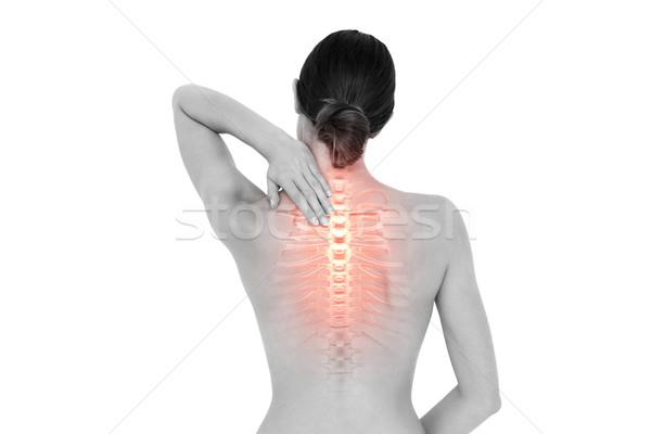 Femme composite numérique nu douleur Homme Photo stock © wavebreak_media